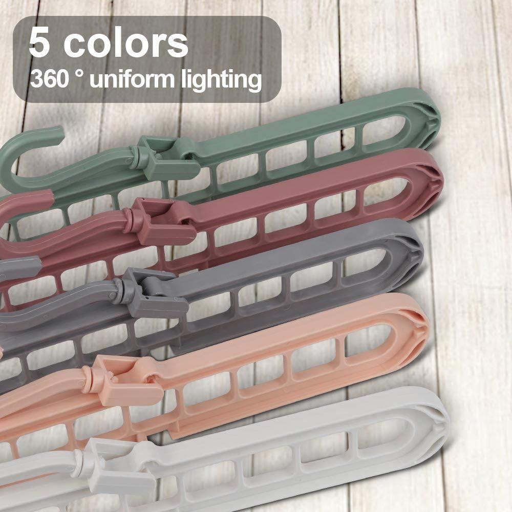 Hospaop Lot de 10 cintres de 5 couleurs diff/érentes pour v/êtements lourds Dix