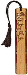 product image for Gingko Leaves Engraved Wooden Bookmark with Tassel - Search B073RRWYH5. for Personalized Version