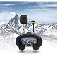 [UPGRAED]FPV Goggles,Gemwon EV800D 5.8G 40CH Diversity 5 Inch 800×480 Video Glasses Headset FPV Build in HD DVR 1200mAh Battery FPV Monitor