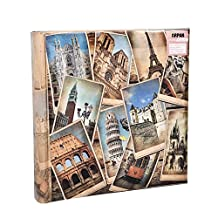 Arpan 10 x 15 cm Travel Memories Memo Photo Album for 200 Photos 4 x 6''