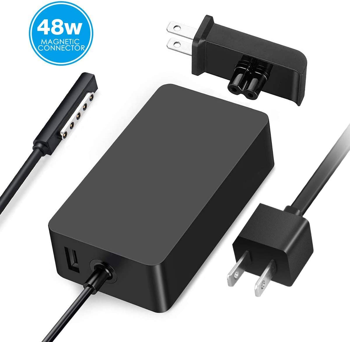 Surface Pro 2 Charger Surface Pro 1 Charger,48W 12V 3.6A Surface Power Supply Adapter for Microsoft Surface Pro 2 Surface Pro 1 Surface RT with 6Ft ...