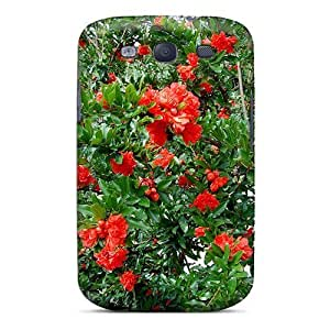 Defender Case For Galaxy S3, Beautiful Cluster Of Red Flowers Pattern