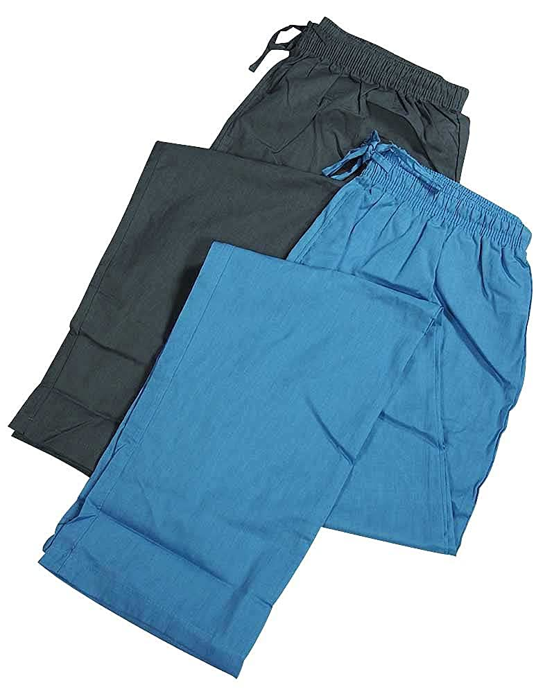 Hanes Mens 2 Pack Woven Sleep Pant Blue