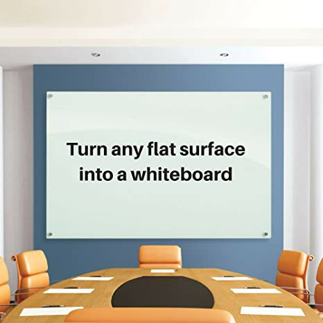 Large Dry Erase Whiteboard Wallpaper 35 4 Wide X 78 7 Long Peel Stick Message Board For The Office Conference Room Or Kids Room By Ashley