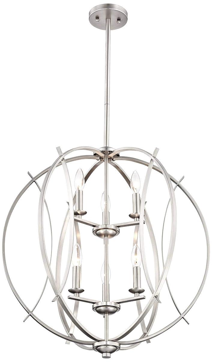 "Possini Euro Spherical 24""W Brushed Nickel 6-Light Pendant - Possini Euro Design"