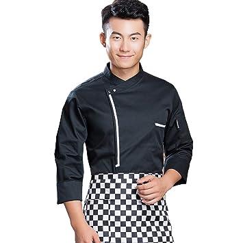 Amazon.com: WillowswayW - Chaqueta de chef de manga larga ...
