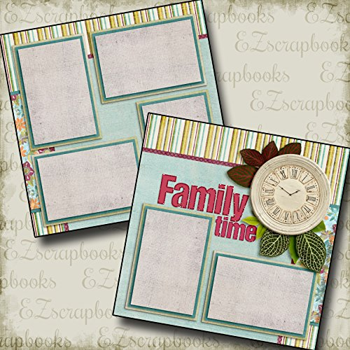 FAMILY TIME - Premade Scrapbook Pages - EZ Layout - Vacation Scrapbook Kit
