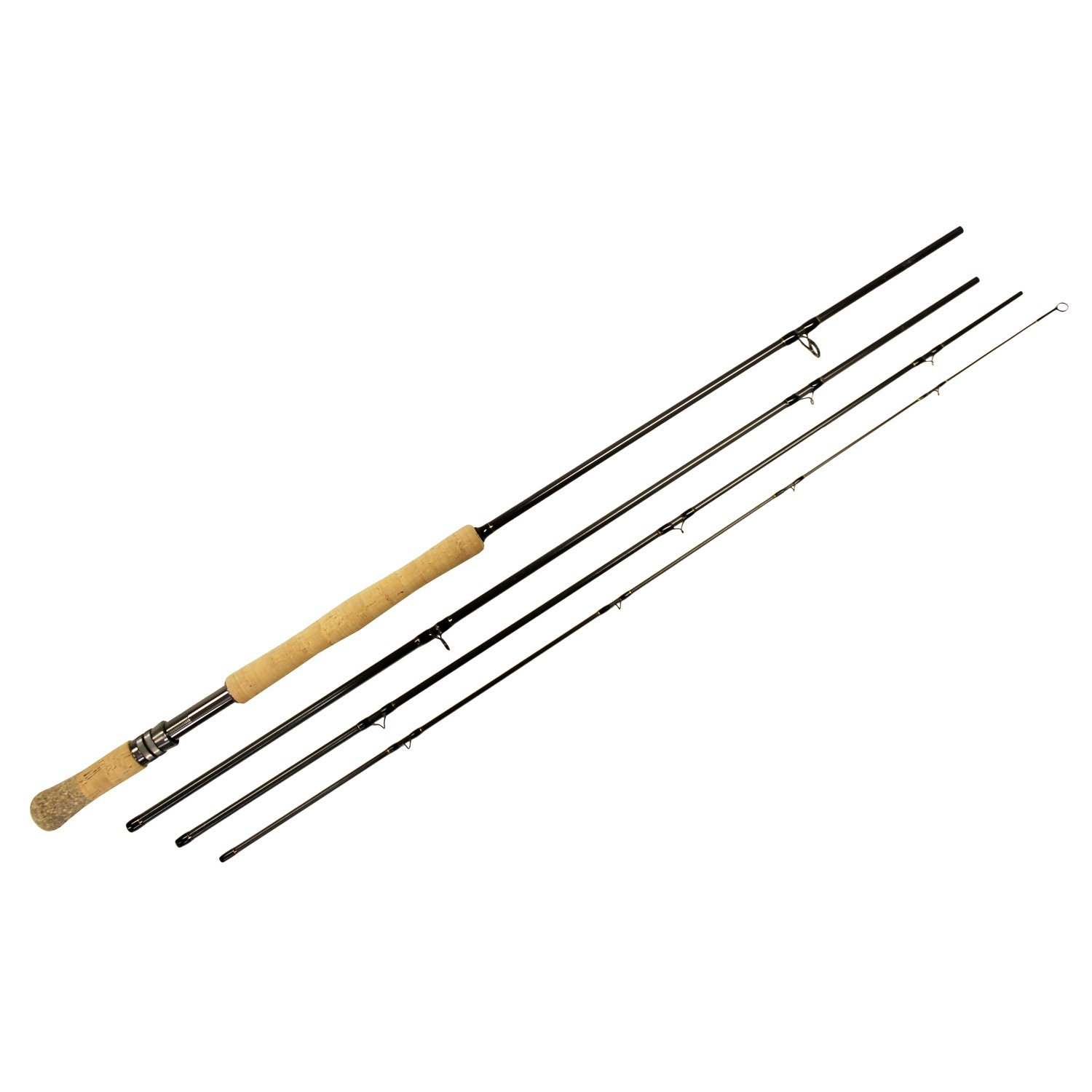 Shu-Fly Switch 7 Fly Fishing Rod (4-Piece), Black, 11-Feet