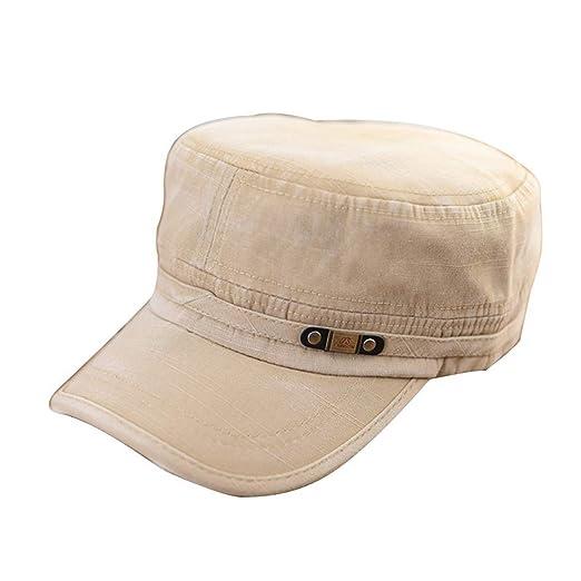 e6087a65c844c Fashion Summer Adjustable Caps Classic Army Plain Vintage Hat Cadet Men  Women Cap 2018