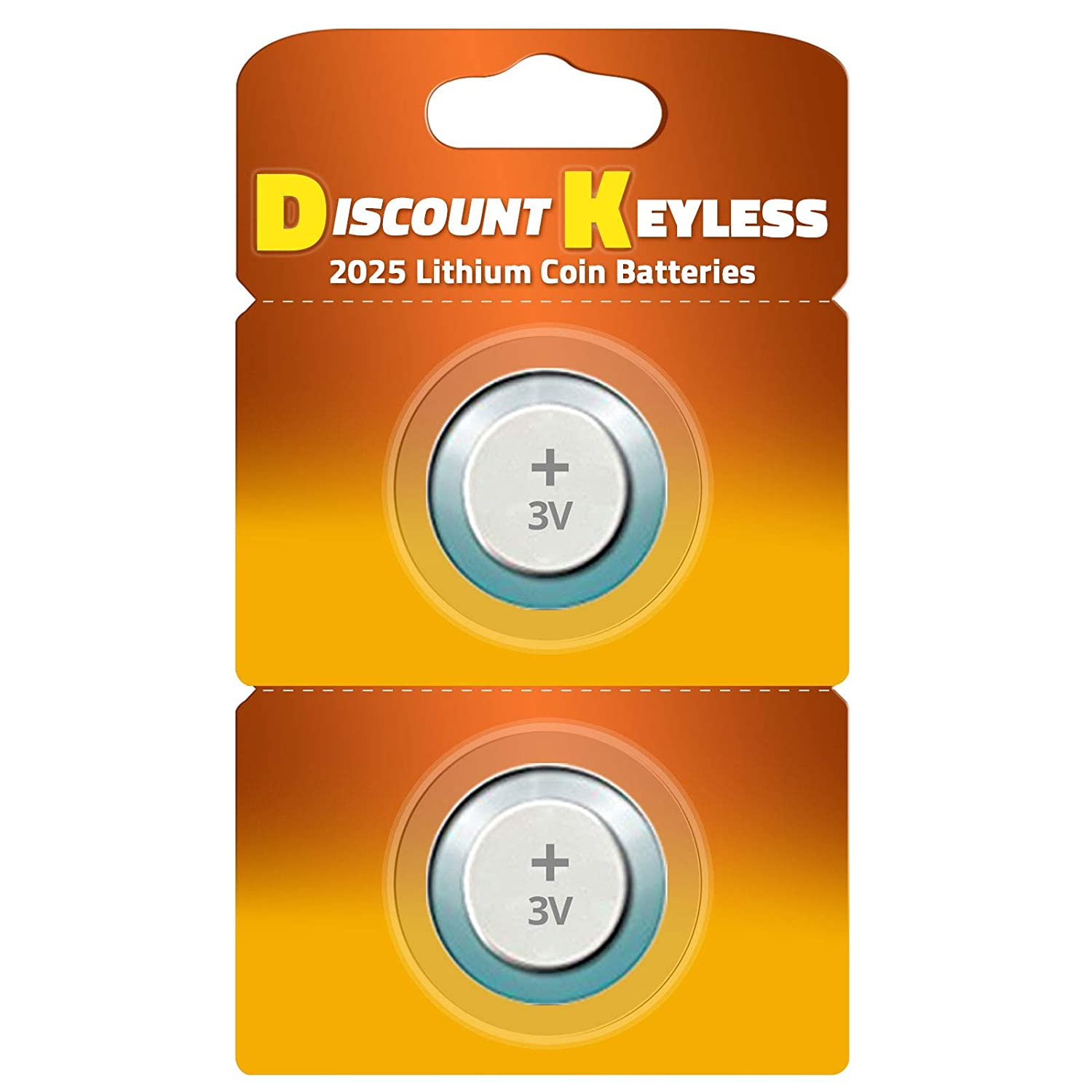CR2025 Key Fob Remote Battery 2-Pack