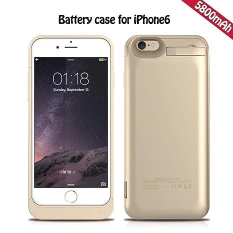 Caso del cargador de batería iPhone 6S, KINGCOO® 5800mAh portátil de carga de batería de reserva externa de la cubierta Paquete con pata de cabra ...