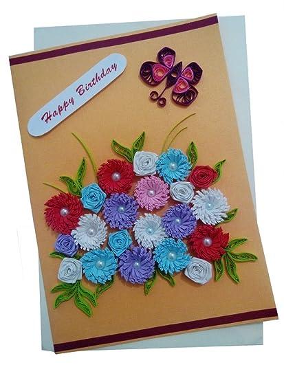 Amazon Mishti Creations Handmade Happy Birthday Greeting Card