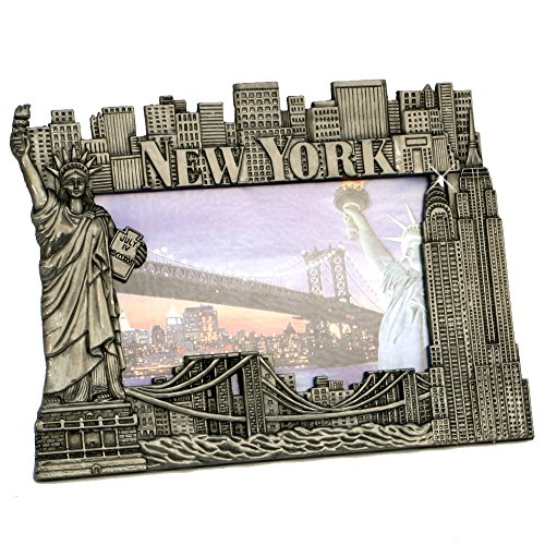 New York Picture Frame - Pewter, New York Picture Frames, Fits 4 X 5 1/2 -