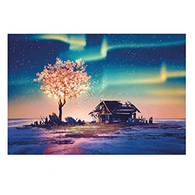Haluoo 234 Pieces Puzzles for Adult Kids Beginners Polar Impression Jigsaw Puzzles Landscape Puzzles Toddler Learning Education Intelligence Development Toy Decorative Pictures for Wall: Clothing