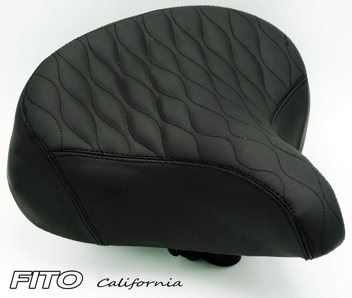 Fito Oversize 10.5 x 9.5 Synthetic Leather Retro Beach Cruiser Bike Seat Saddle
