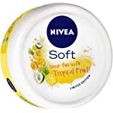 NIVEA Soft, Light Moisturising Cream, Tropical Fruit, 200ml