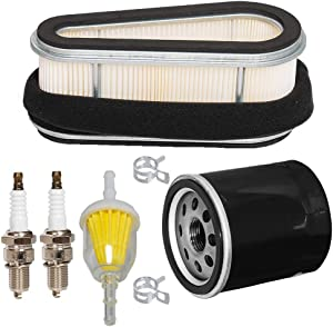 HIFROM Air Filter Pre-Filter Oil Filter Fuel Filter Spark Plug Tune Up Kit Compatible with Kawasaki FC540 17 HP OHV Engine 11013-1214 11013-2014 11013-2098 11013-2143 Lawn Mower