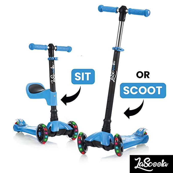 Scooter for Kids Scooters 3 Wheeled Scooter 3 Wheel Scooter for Kids Ages 2-12 (Blue)