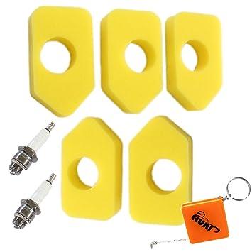 Zündkerze Schaumstoff Luftfilter für Briggs /& Stratton Sprint Classic Quatro