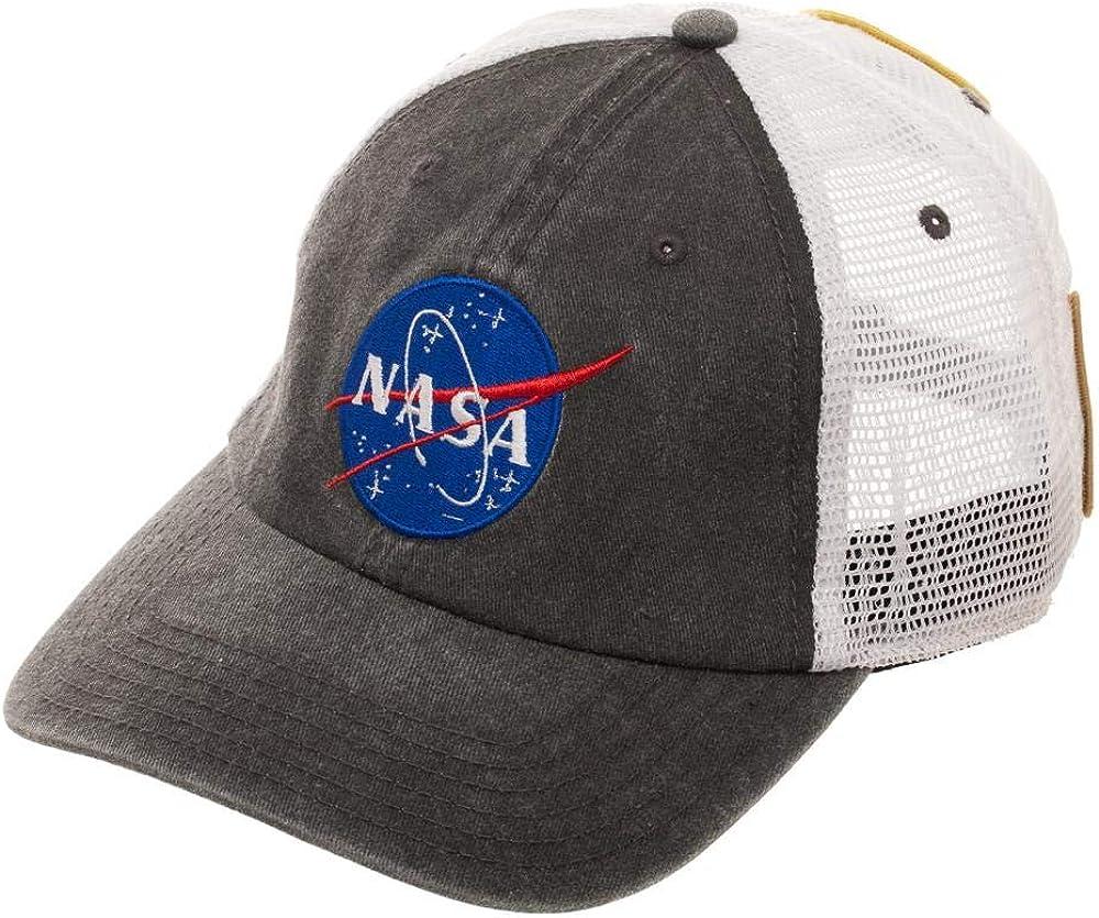NASA Men Women Baseball Hat Embroidered Trucker Adjustable Snapback Cotton Cap
