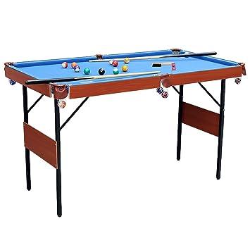 HLC, tavolo da biliardo e snooker pieghevole, colore blu, con palle ...
