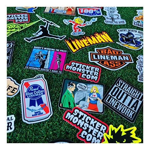 Lineman (64) Hard Hat Stickers Hardhat Sticker, Linemen, Electrician, Reddy IBEW by Unknown (Image #8)
