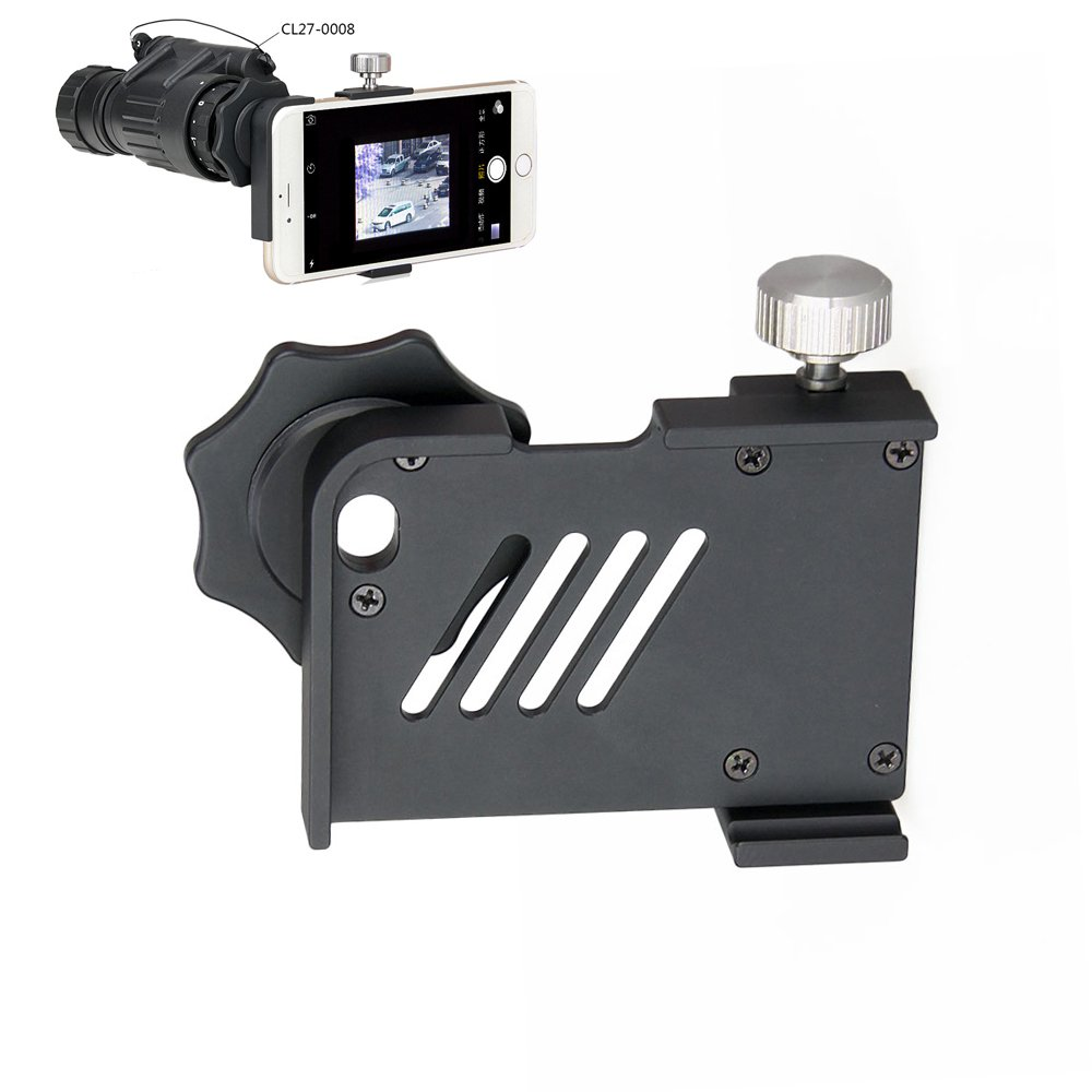 FLY SHARK PVS-14 Night Vision Scope Mount Adapter Fits For All Kinds of Mobile Phones Case For Hunting Black