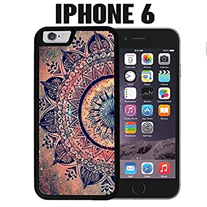 Brand-new Amazon.com: iPhone Case Mandala Datura Hippie for iPhone 6 Rubber  GN75