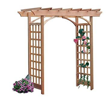 Arboria Berkeley Arbor Cedar Wood Large Depth Over 7ft High Pergola Design  With Adjustable Size Walkway