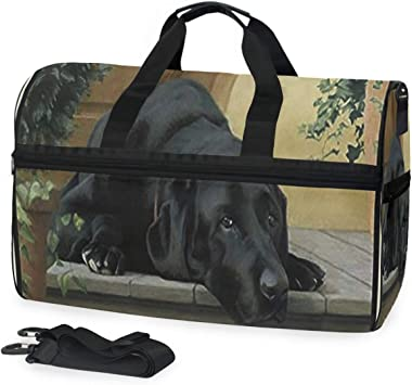 Classic Houndstooth Travel Duffel Bag Sports Gym Duffel Bag Luggage Handbag for Men Women