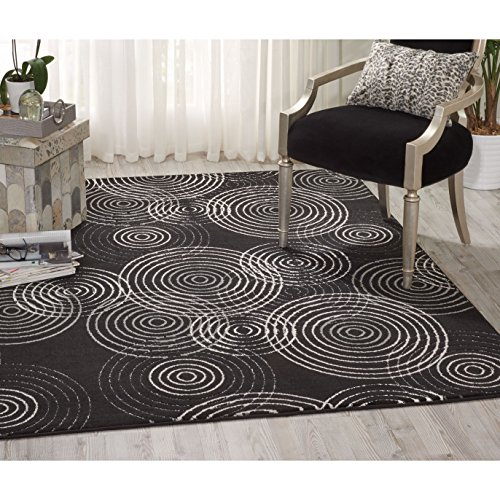 Nourison Studio Black Area Rug (3'2 x 5')