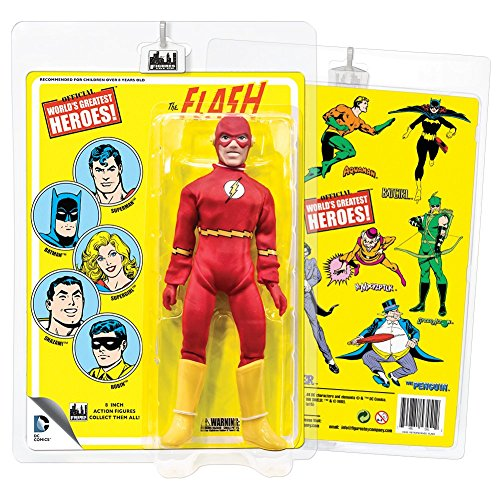 DC Comics 8 Inch Action Figures With Mego-Like Retro Cards: - Retro Flash