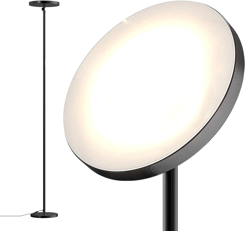 dodocool Lampadaire, 30W 2800K-7000K Lampe sur Pied Moderne à LED, 4 Températures de Couleur, Salon Chambre Lampadaire avec Contrôle Tactile&Minuteur
