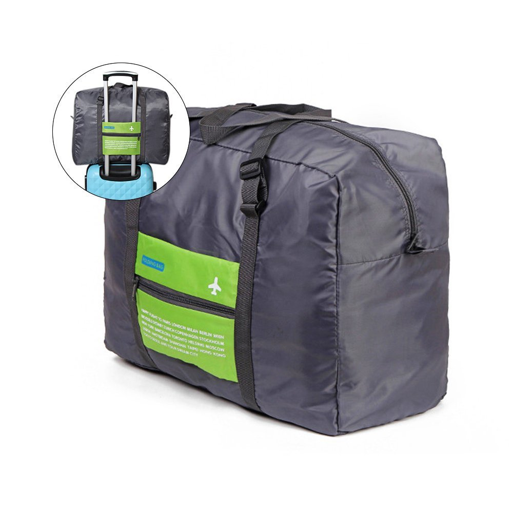 Waterproof Nylon Foldaway Bag Attached to Luggage Sports Gear Gym Bag for Outdoor Activities,Green YOOYE