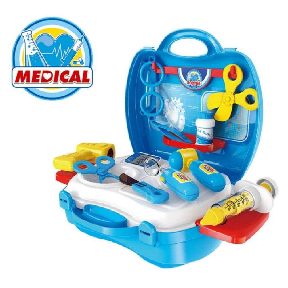 Childrens Doctors Kit, Kidshobby Kids Doctors Set Pretend Role Play Toy for Boys and Girls, Premium 18 Pieces Set with Carry Case