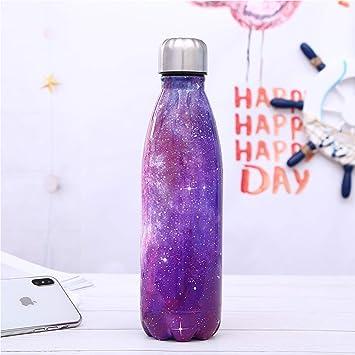 Botella de agua deportiva de acero inoxidable Botella estrellada creativa de cola Botella térmica portátil con Aislamiento para deportes de Mantiene ...