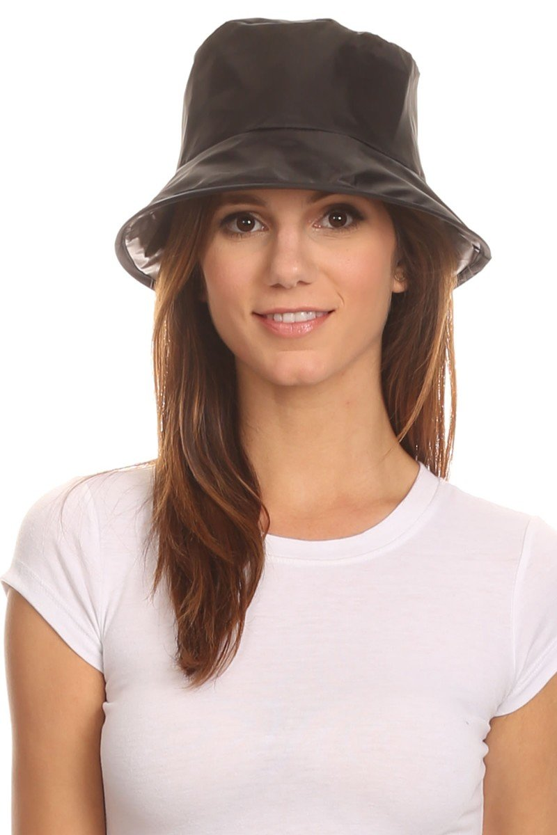 LL Unisex Black Twist to Pack Rain Bucket Hat Water Resistant Medium Large by BSB