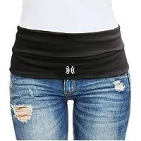 Limber Stretch Travel Money Belt Unisex, Running Belt, Hiking Fashion Waist Pack with Key Clip | Large Sweatproof…