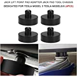 Docooler 4pcs Jack Lift Point Pad Adapter Jack Pad Tool Chassis Dedicated for Tesla Model 3 Tesla Models/X