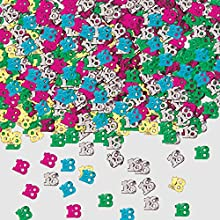 Amscan – 9900459 14 G número 18 metálico confeti