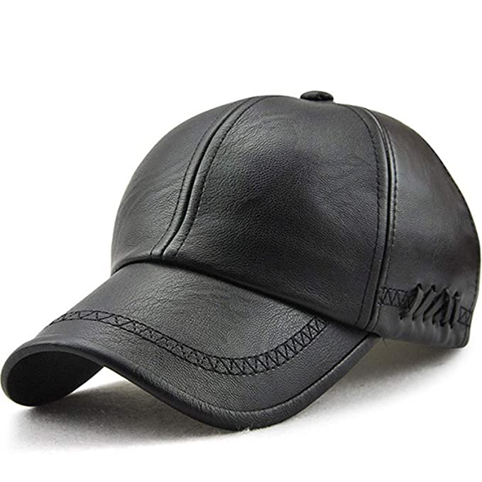 2f0f6ed5 JienClound Men's Leather Baseball Cap,Mens Outdoor Hats and Caps,Winter Hats ,Gifts