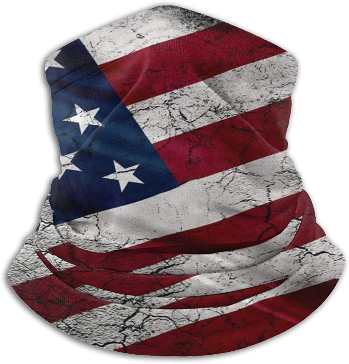 Kimisoy United States Flag of America Neck Gaiter Windproof Face Cover Versatility Neck Warmer Dust-Proof Half Face Shields Soft Headwear Comfort Balaclava for Men Women Kids Black