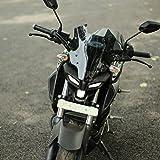 Autonity Dark Warrior Windshield/Visor for Yamaha MT 15 (Black)