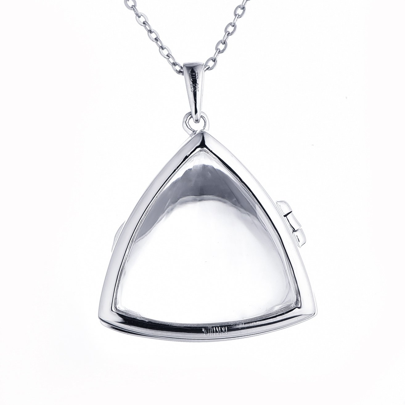 Sterling Silver-Glass-Custom Photo Locket Necklace-26-inch chain-The Lyla by With You Lockets