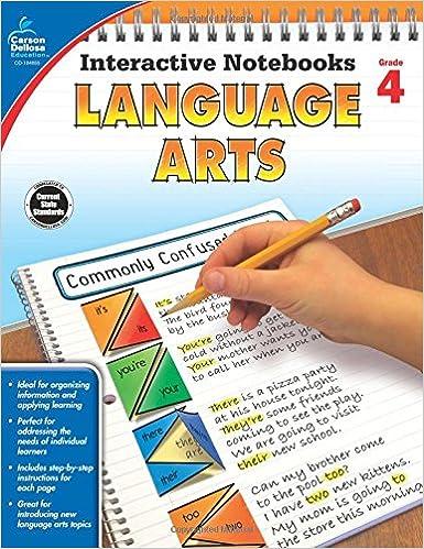 Amazon.com: Language Arts, Grade 4 (Interactive Notebooks ...