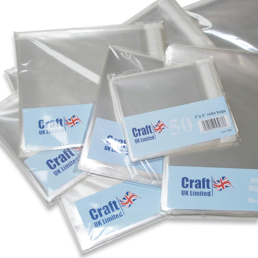 Craft UK DL Poly Bags-50 Pack Synthetic Material 11.4 x 25 x 0.1 cm