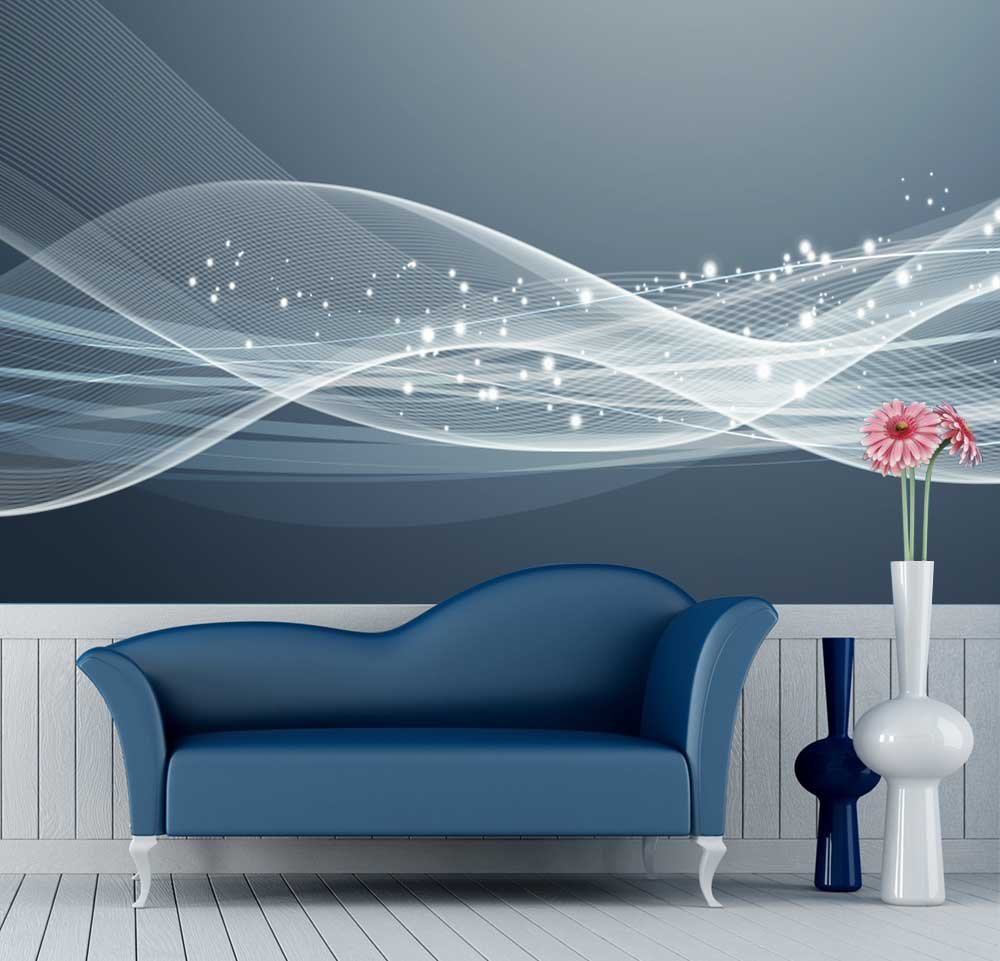 Large Wall Mural Gorgeous Lines And Patterns Vinyl Wallpaper Removable Decorating