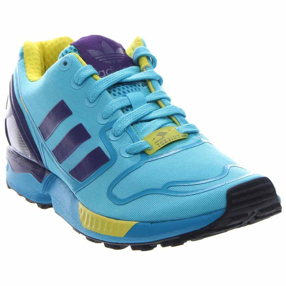 59e7a645c Adidas Zx Flux Bright Cyan collegiate Purple yellow Men s Shoes Af6303  BRCYAN CPURPL BYELLO CYAVIF VIOCOL JAUVIF 8 D(M) US  Buy Online at Low  Prices in ...
