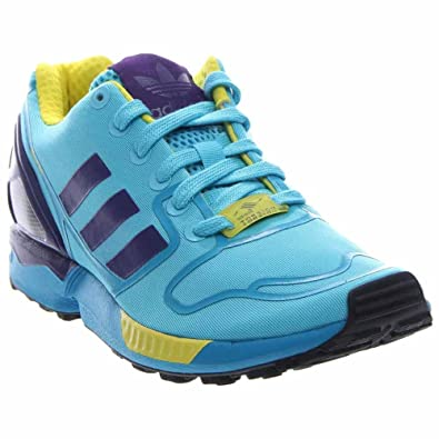 a0ff981e7 Adidas Zx Flux (Bright Cyan collegiate Purple yellow) Men s Shoes Af6303 Bright  Cyan Purple Yellow 10 D(M) US  Amazon.in  Shoes   Handbags