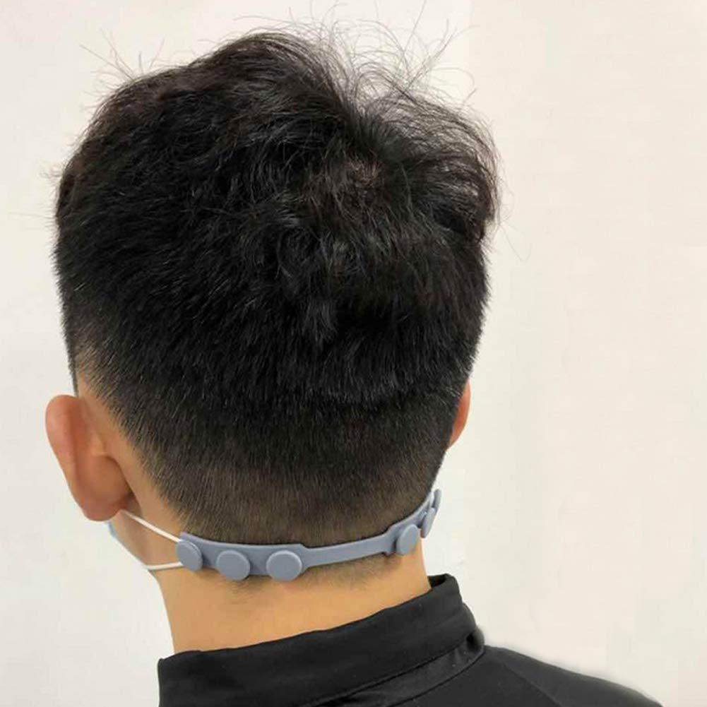 Transparentwei/ß Verstellbarer Maskenriemen mit Schnalle
